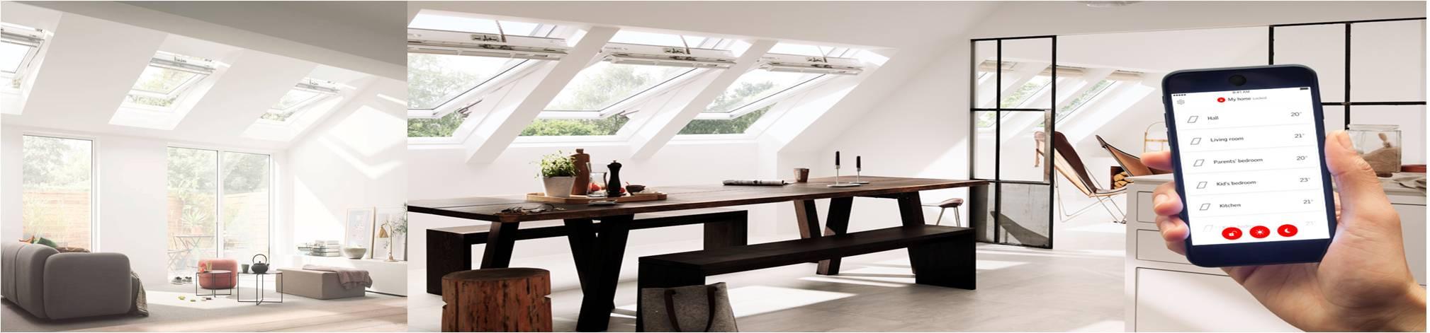 Velux Active Control de clima interior en el hogar