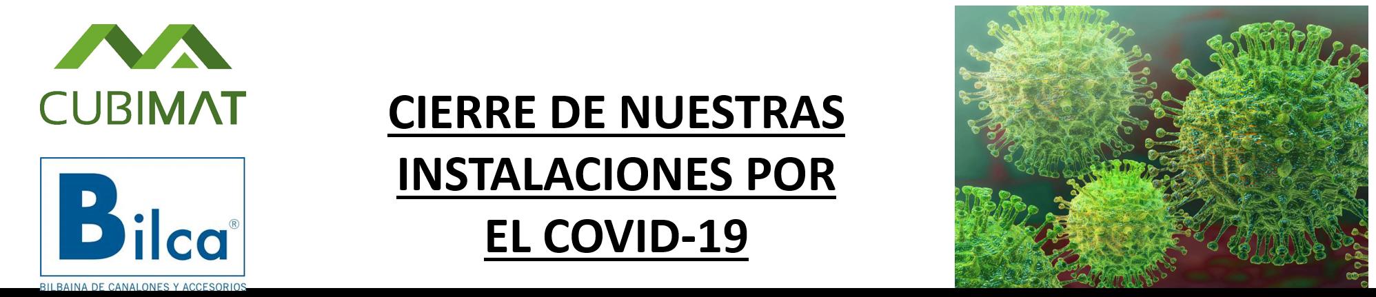 Cierre de Nuestras Instalaciones por el Covid-19